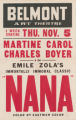 Belmont Art Theaters feature film, Nana