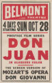 Belmont Theaters feature film, Don Juan