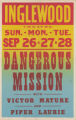 Inglewood Theatre's feature film, Dangerous Mission