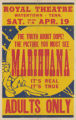 Royal Theaters feature film, Marihuana