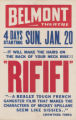 Belmont Theatre's feature film, Rififi