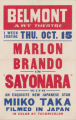 Belmont Art Theatre's feature film, Sayonara