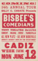 34th Annual Tour of Bisbee's Comedians in Cadiz (June 12)