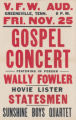 Gospel Concert with Wally Fowler at the Greeneville V. F. W. Auditorium