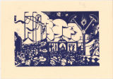 Carnival Woodcut Proof (blue)
