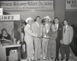 Cowboy Copas, Hawkshaw Hawkins, Stoney Cooper, Audrey Williams, Jim Reeves, and unidentified man...
