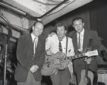 Ferlin Husky, holding guitar, with Red Specks and Jim Reeves